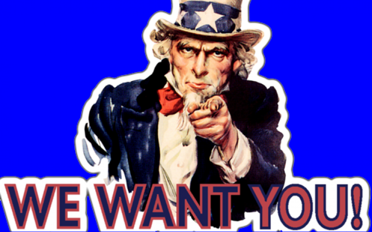 Uncle Sam Call for Volunteers